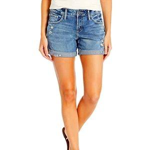 Silver Jeans Classic Stretch Boyfriend Shorts 26